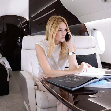 Falcon Private Jet Interior